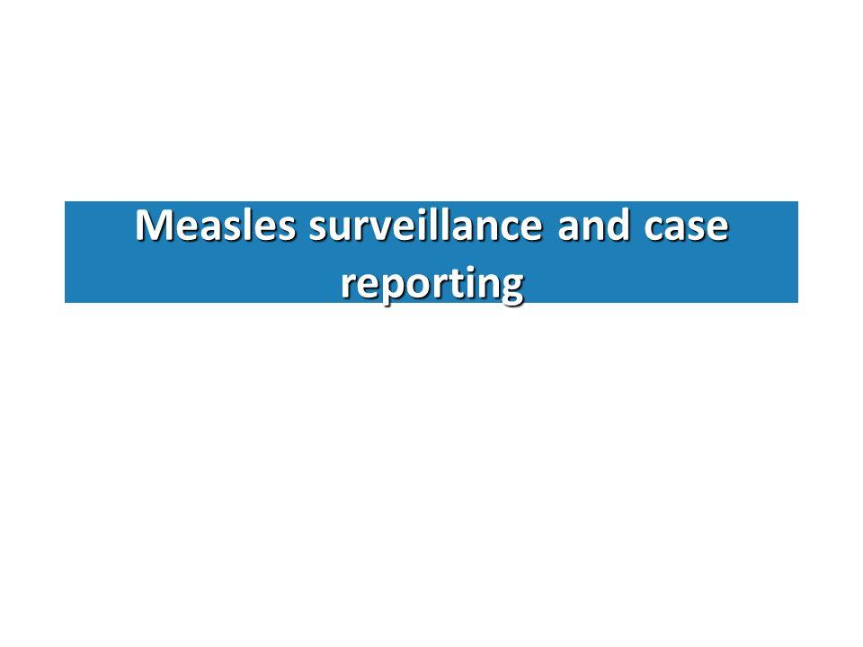 Confirmed measles. Case based surveillance data. AFR. 2003 – July 2011
