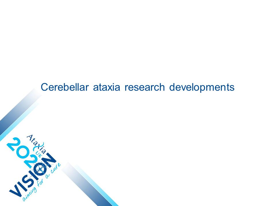 Cerebellar ataxia research developments