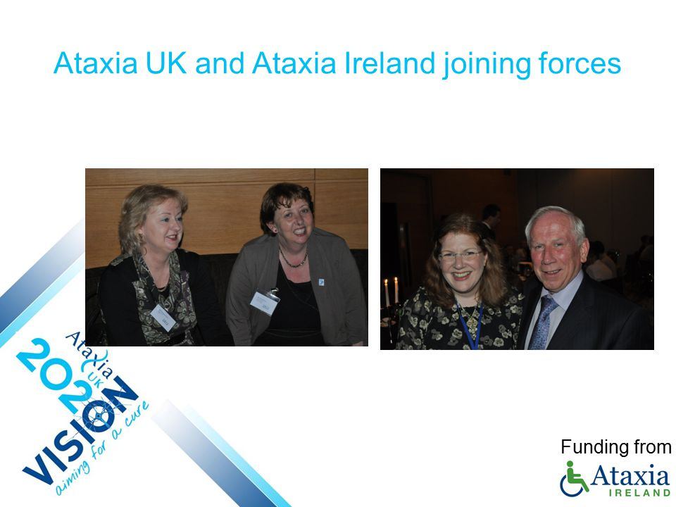 Ataxia UK and Ataxia Ireland joining forces Funding from