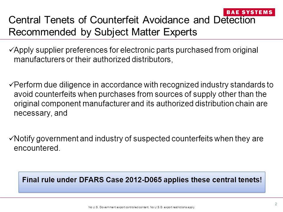 No U.S. Government export controlled content. No U.S.G.