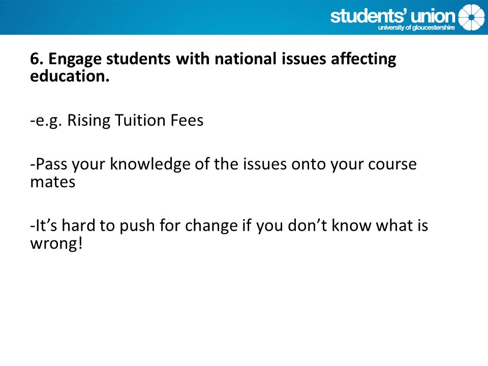 What is NOT your role To deal with individual students issues e.g.