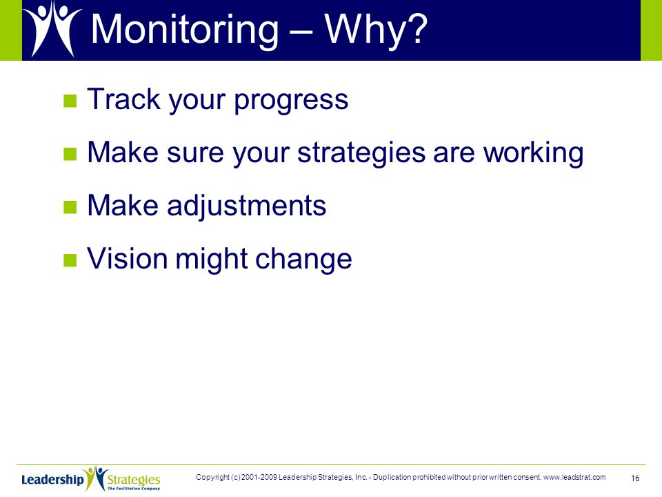16 Monitoring – Why.