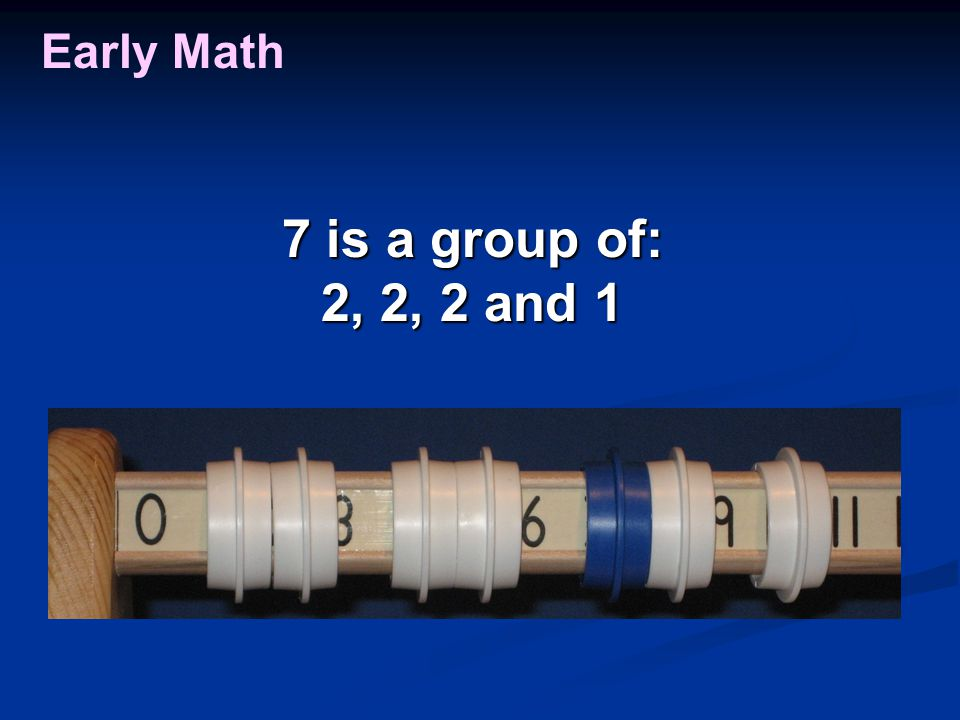 Early Math 7 is a group of: 2, 2, 2 and 1