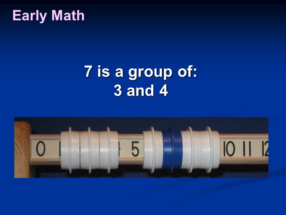 Early Math 7 is a group of: 3 and 4