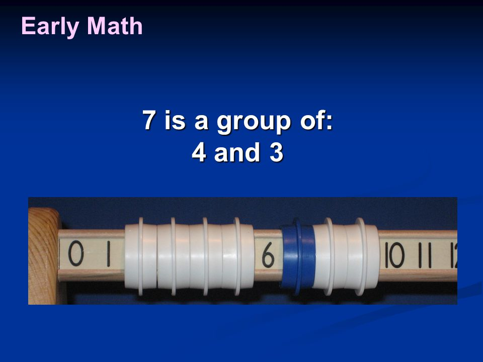 Early Math 7 is a group of: 4 and 3