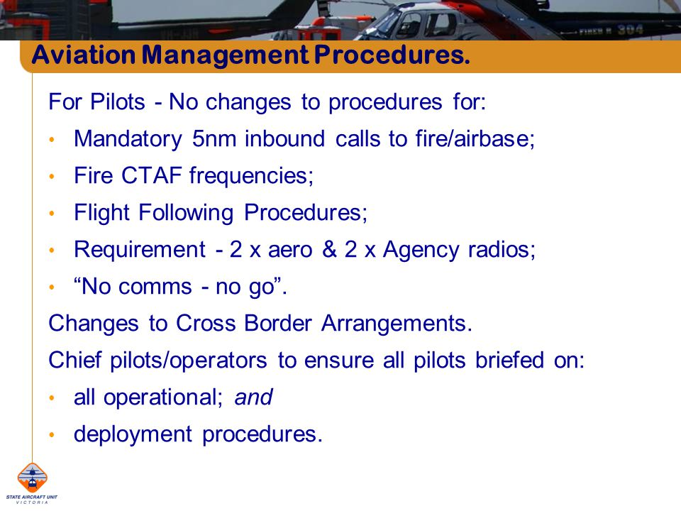 Aviation Management Procedures.