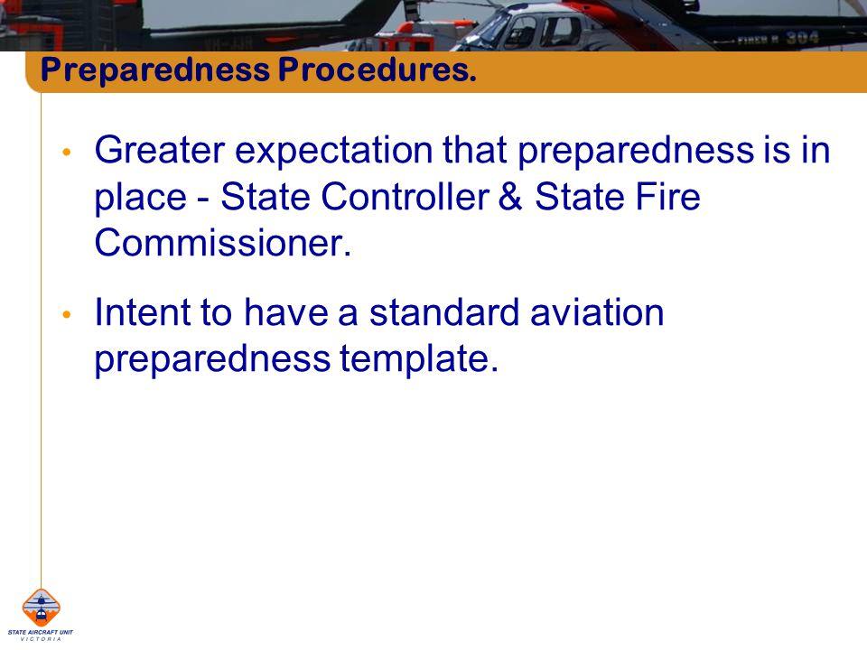 Preparedness Procedures.