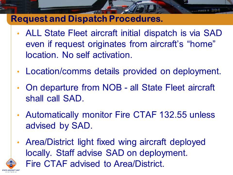Request and Dispatch Procedures.