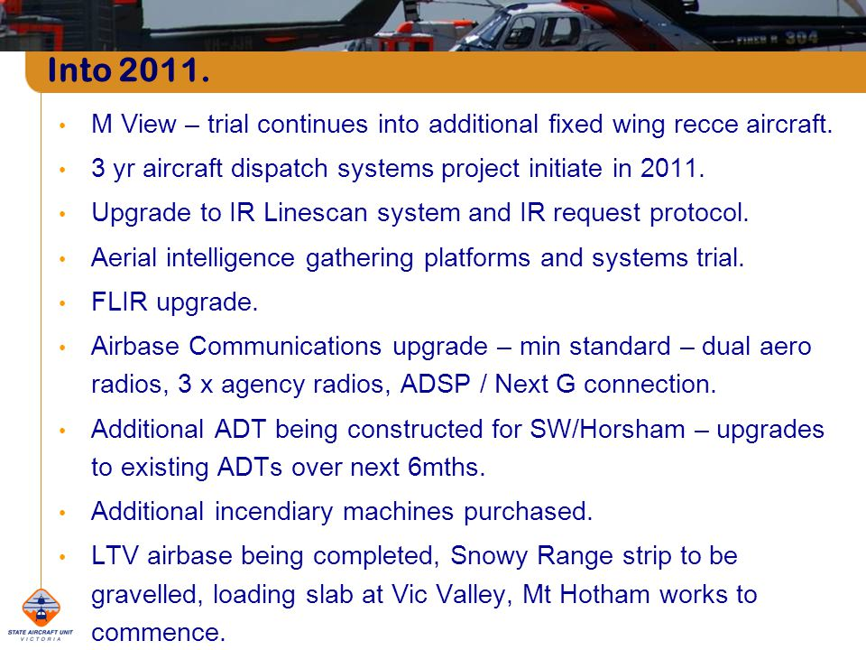 M View – trial continues into additional fixed wing recce aircraft.