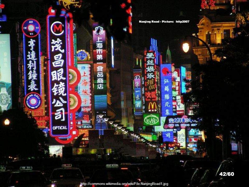 Nanjing Road - Picture: Yakub Halun http://commons.wikimedia.org/wiki/File:20091014_Shanghai_East_Nanjing_Road_7555.jpg 41/60