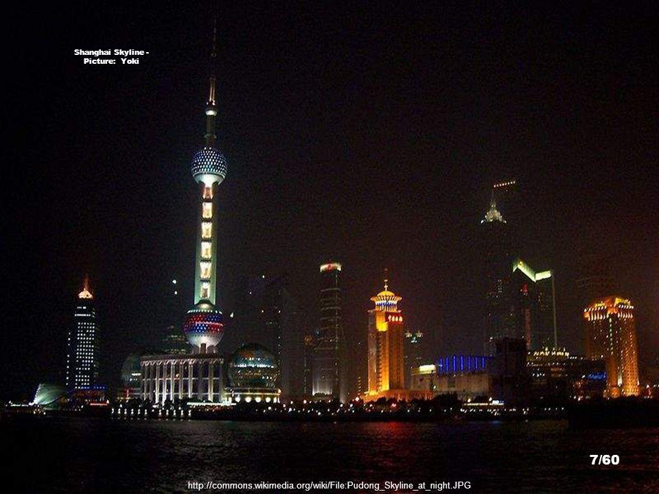 http://commons.wikimedia.org/wiki/File:Pudong_Skyline_at_night.JPG Shanghai Skyline - Picture: Yoki 7/60