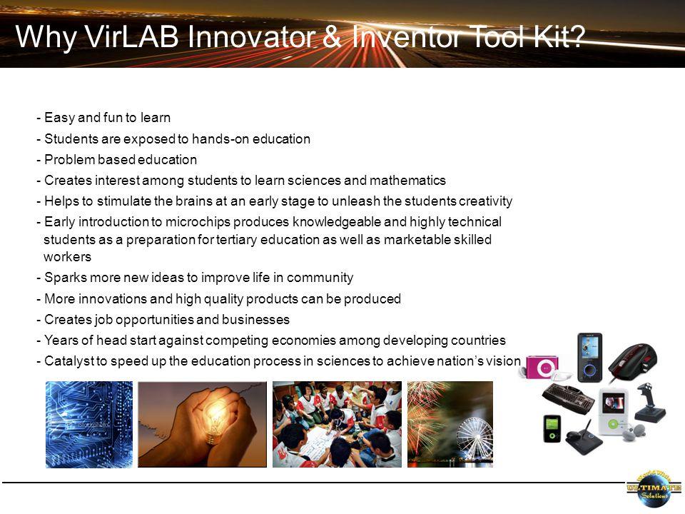 Why VirLAB Innovator & Inventor Tool Kit.
