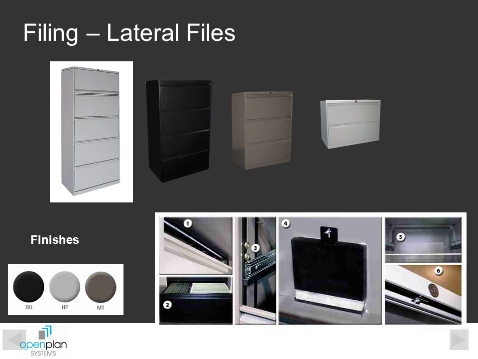 Filing – Lateral Files Finishes