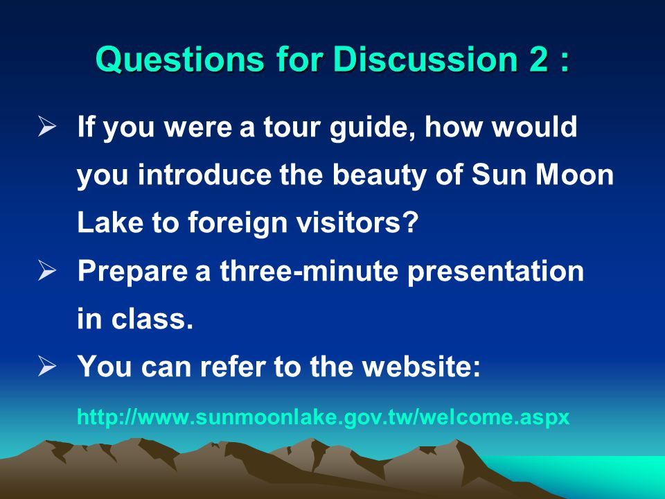 Questions for Discussion 1:  Which part of the Thao traditions interests you most.