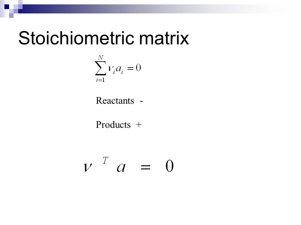 Stoichiometry and och kinetics Desired reactions Non-desired reactions (side reactions) Often multiple reactions Example: Methanol synthesis CO + 2H 2