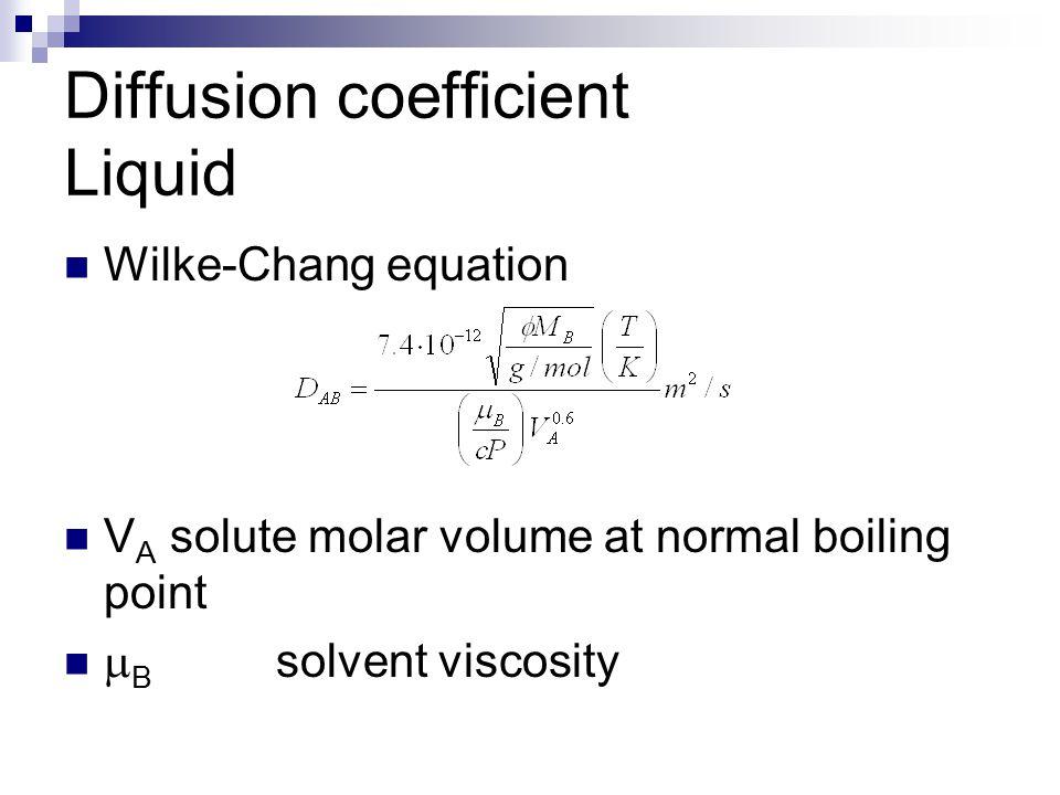 Diffusion coefficient Liquids Stokes-Einstein equation  Molecule radius R A is the bottleneck !