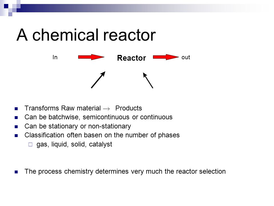 Chemical process in general