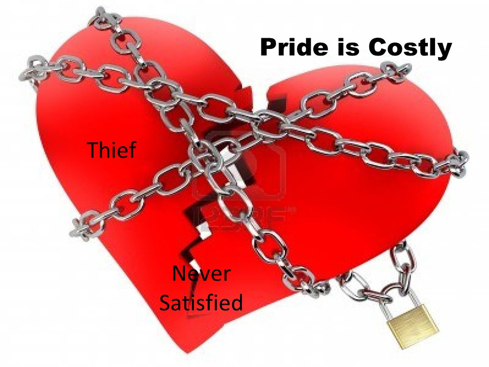 Pride is Costly Thief Never Satisfied Fragile/Painful