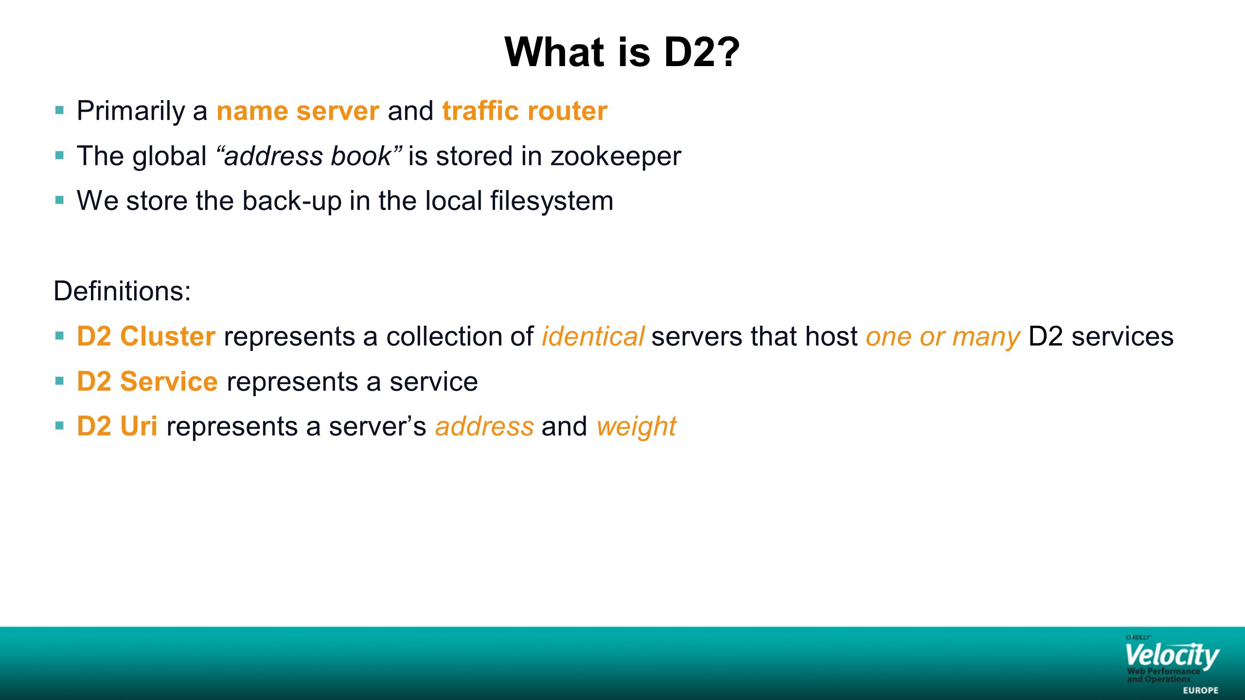 How is D2 information organized and stored.