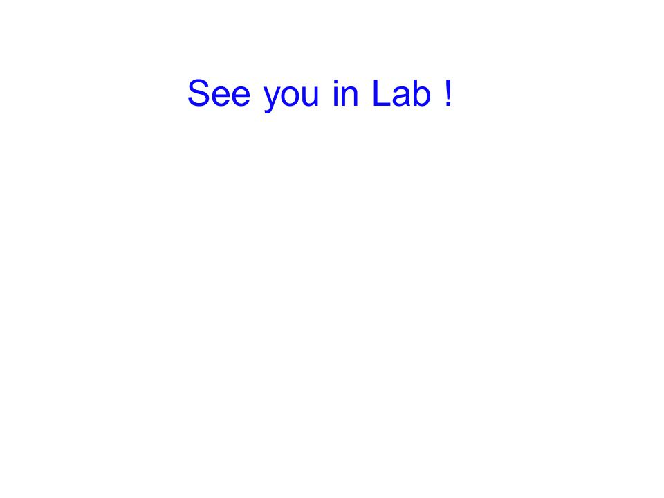 See you in Lab !