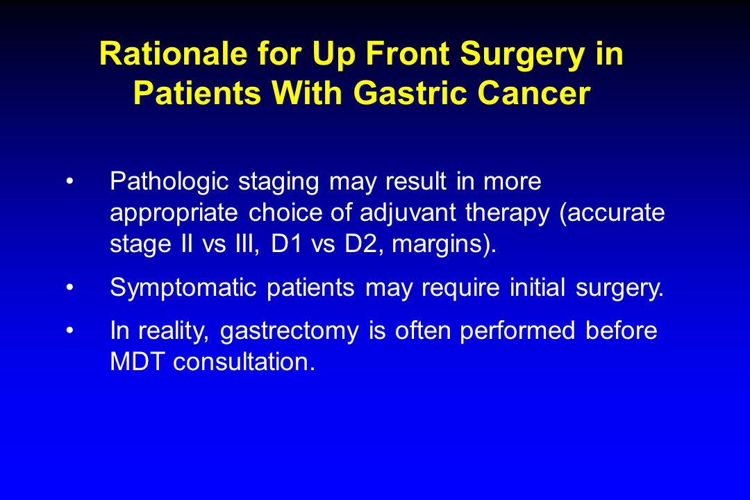 Algorithm for Management of Gastric Cancer* *ESMO-ESSO-ESTRO 2013