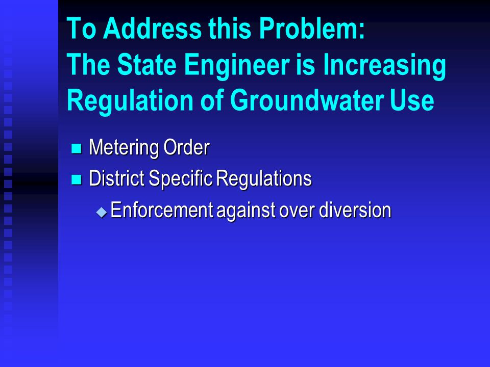 This Effect has been Evident in the Recent Drought Groundwater pumping has been high during the recent drought Groundwater pumping has been high during the recent drought The drains have been dry The drains have been dry The drains dried up rapidly, and have not yet recovered.