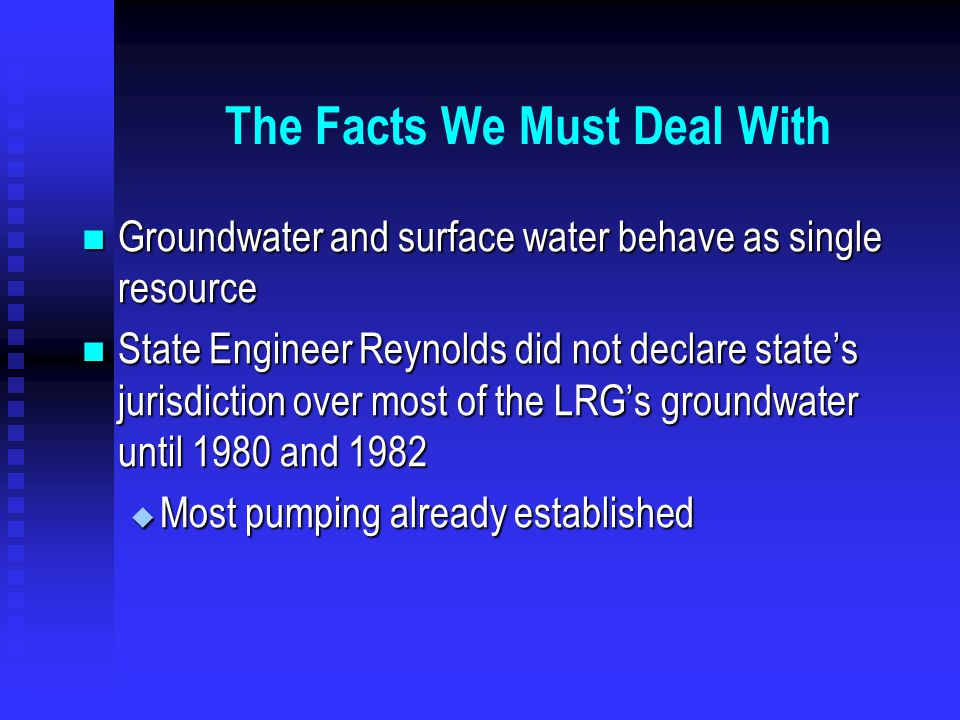 Plus Increasing Municipal and Industrial water use