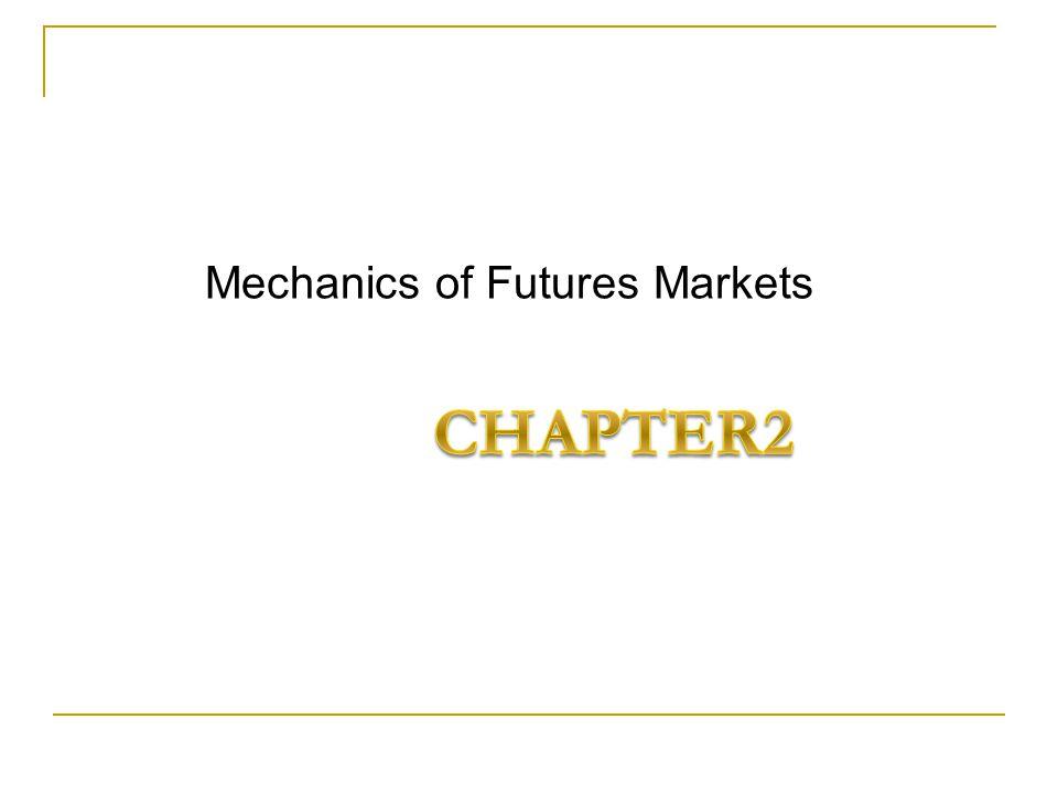 Mechanics of Futures Markets