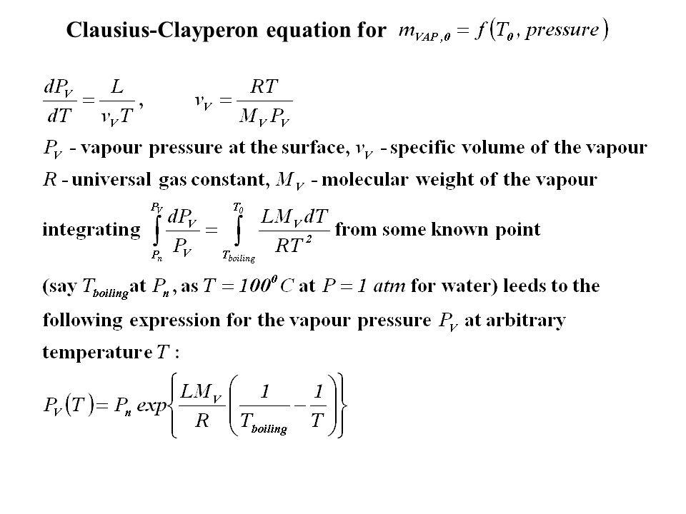 Clausius-Clayperon equation for