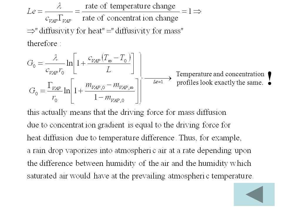 Temperature and concentration profiles look exactly the same. !