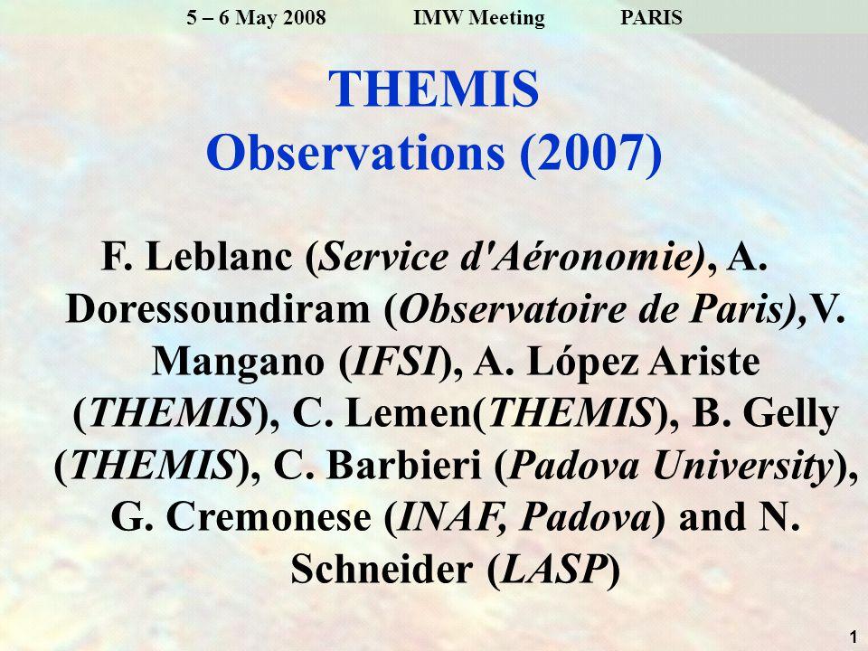 12 5 – 6 May 2008 IMW Meeting PARIS D2 Continuum D1 Continuum