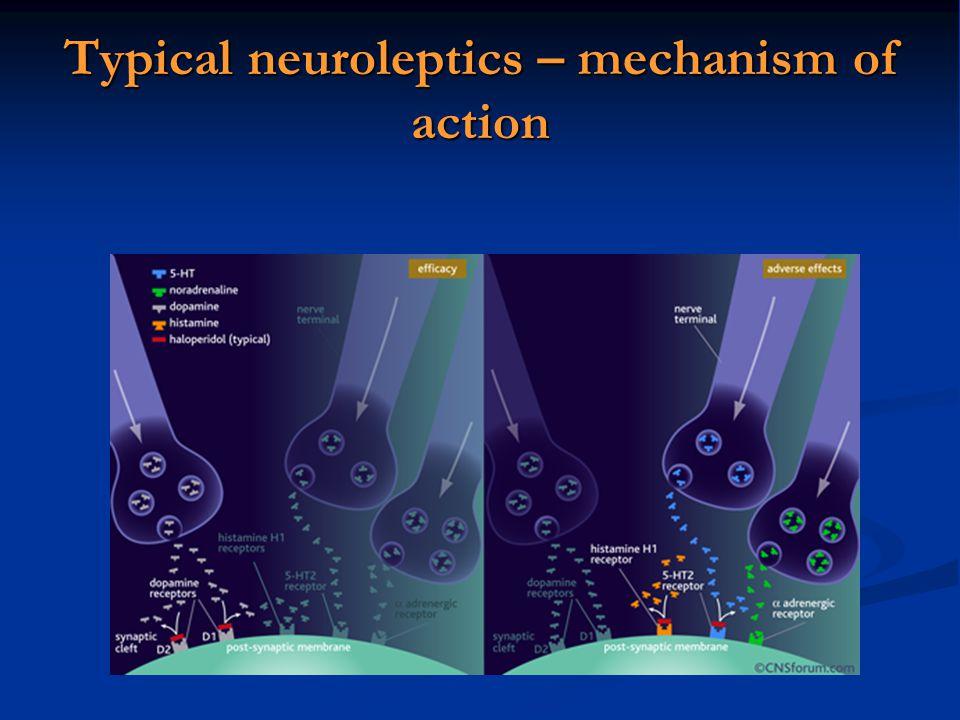 Typical neuroleptics – mechanism of action