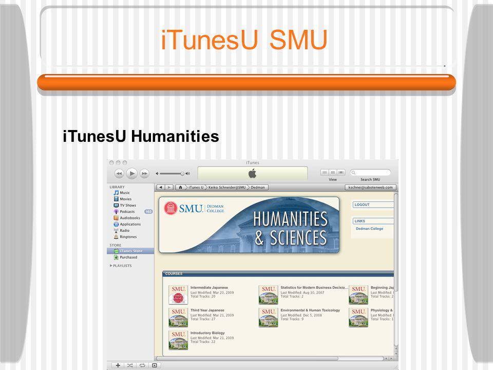 TFLA 2009: SCHNEIDER iTunesU SMU iTunesU main page
