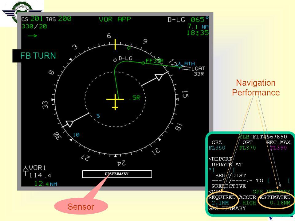 30 GPS PRIMARY CLB FLT4567890 CRZ OPT REC MAX FL350 FL370 FL390 <REPORT UPDATE AT *[ ] BRG /DIST ---° /----.- TO [ ] PREDICTIVE <GPS GPS PRIMARY REQUI