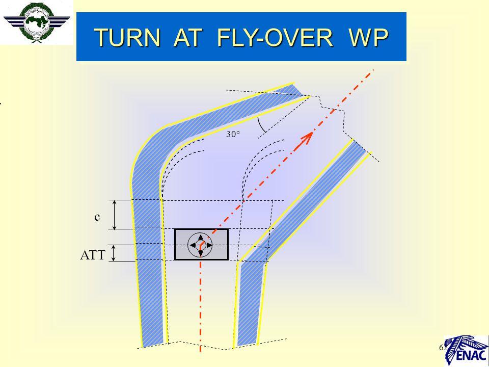 62 ATT c 30° TURN AT FLY-OVER WP