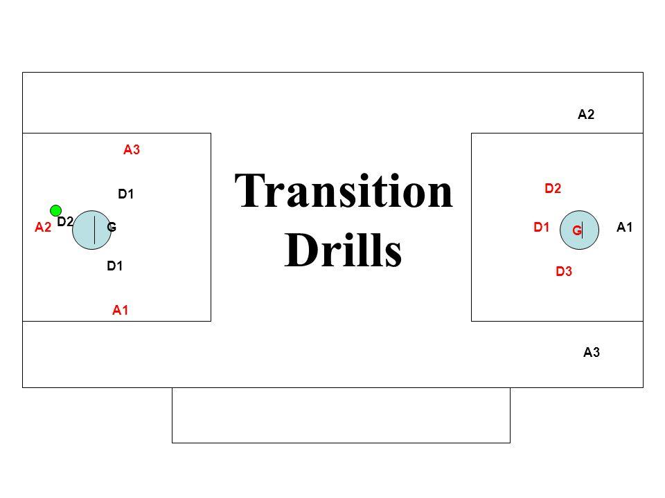A1 A2 A3 D1 GA2 A3 D1 D2 D3 G Transition Drills A1 D2