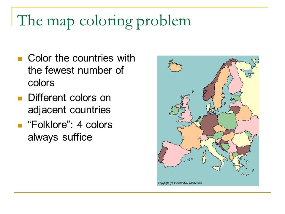6-Coloring Algorithm Simple minimum-degree Greedy algorithm  Find a vertex v of degree 5 or less.