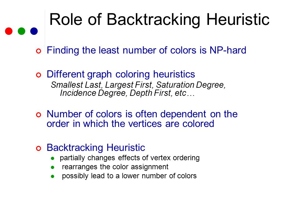 Number of Colors Used by Different D2 Algorithms NT: Natural LF: Largest First SL: Smallest Last ID: Incidence Degree SD: Saturation Degree DF: Depth First B: Backtracking I: Culberson's Iteration