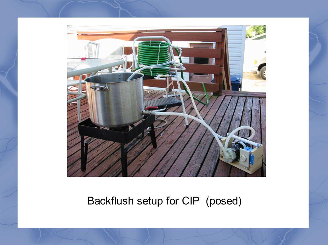 Backflush setup for CIP (posed)