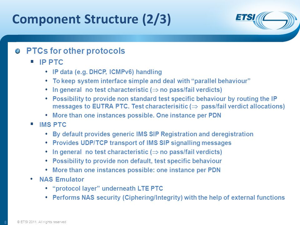 """Component Structure (2/3) PTCs for other protocols  IP PTC IP data (e.g. DHCP, ICMPv6) handling To keep system interface simple and deal with """"parall"""