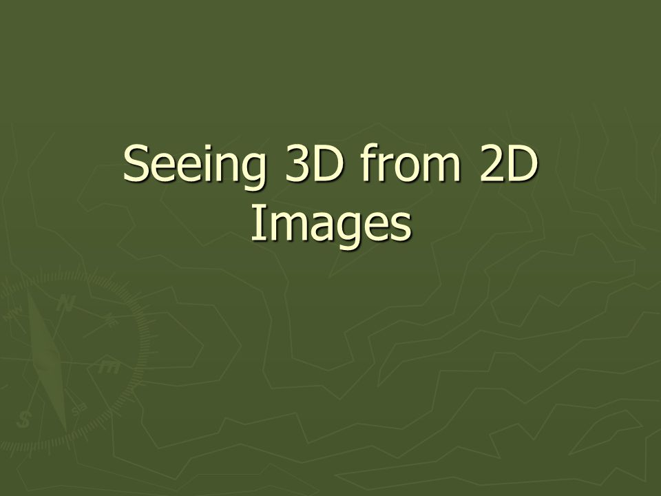 How to make a 2D image appear as 3D.
