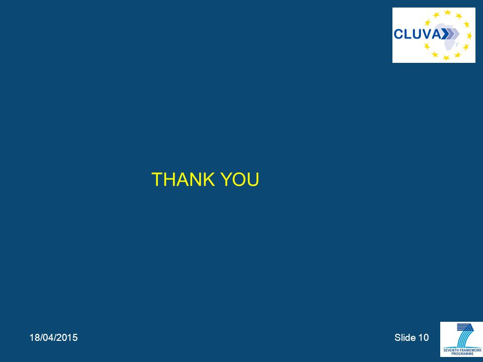 THANK YOU Slide 10 18/04/2015
