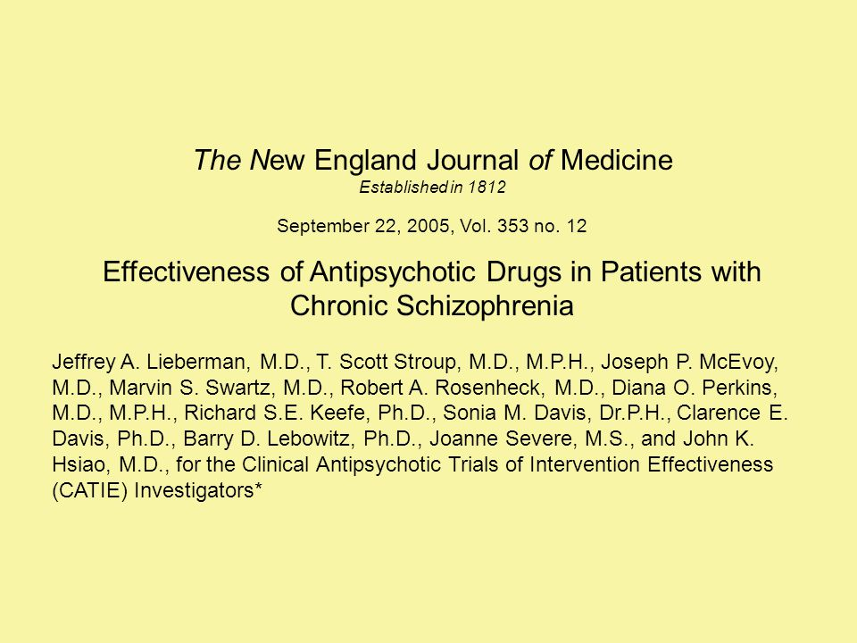 The New England Journal of Medicine Established in 1812 September 22, 2005, Vol.