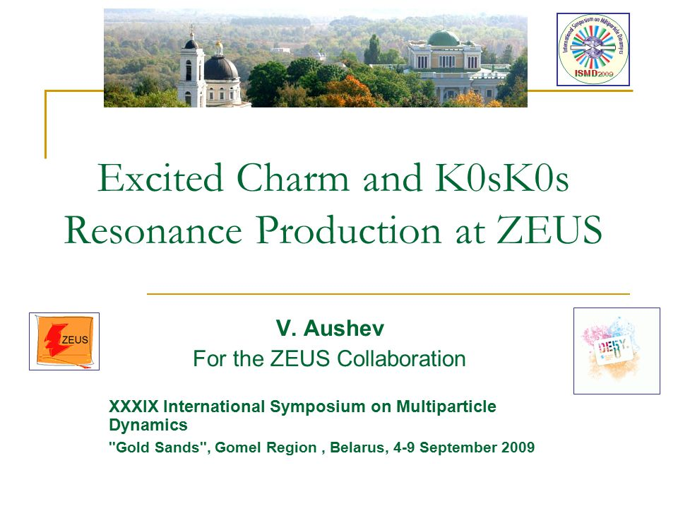 Excited Charm and K0sK0s Resonance Production at ZEUS V.