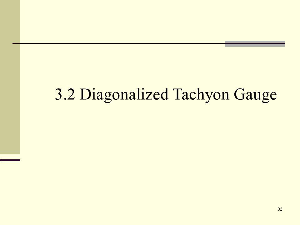 32 3.2 Diagonalized Tachyon Gauge