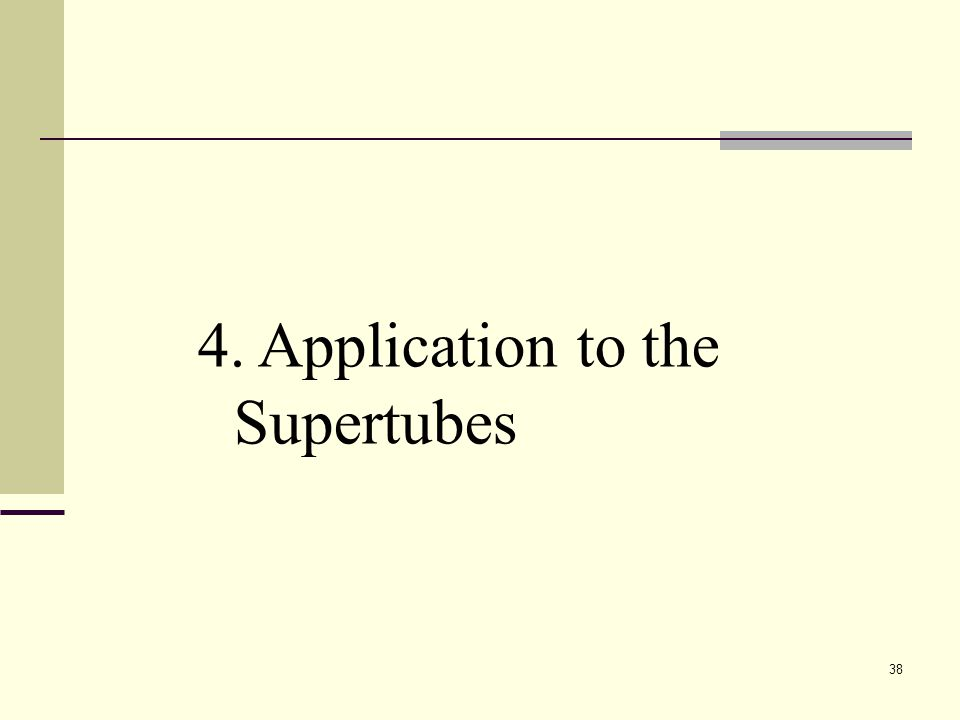 38 4. Application to the Supertubes