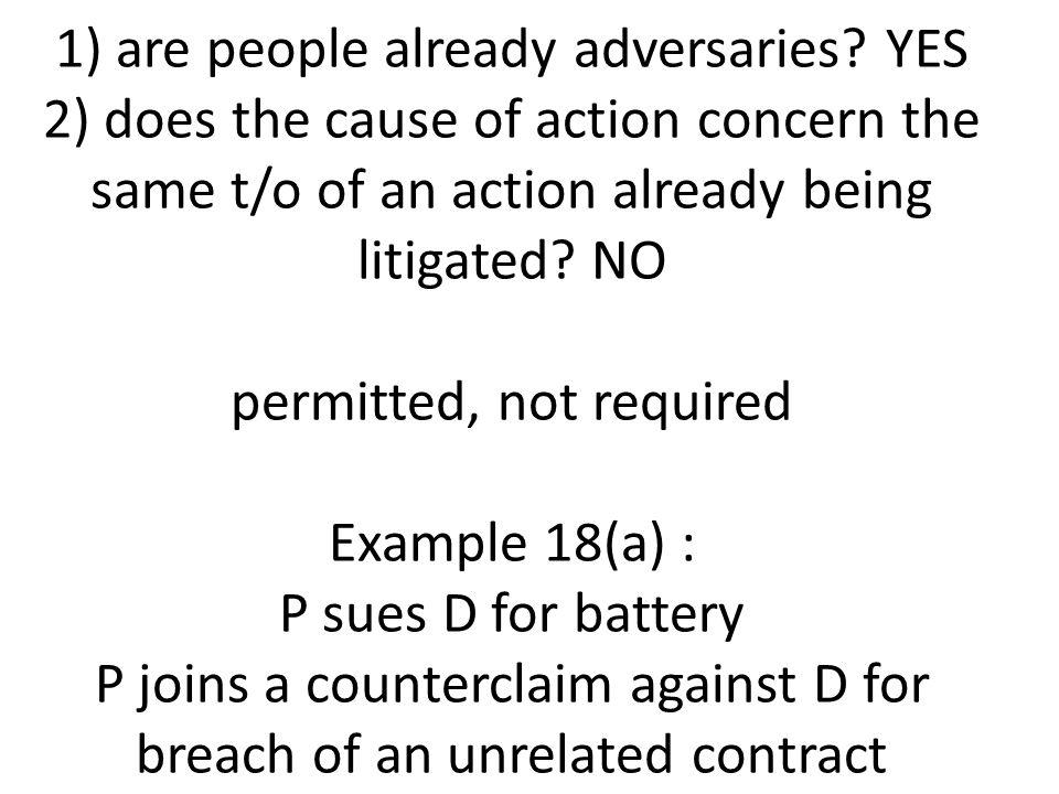 1) are people already adversaries.