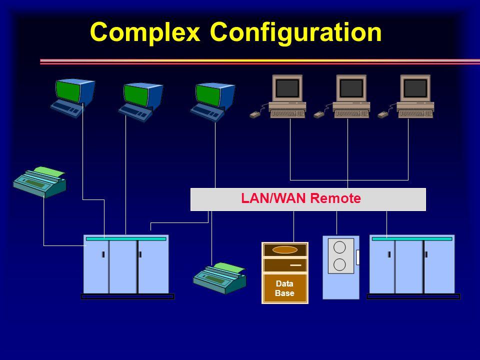Complex Configuration LAN/WAN Remote Data Base