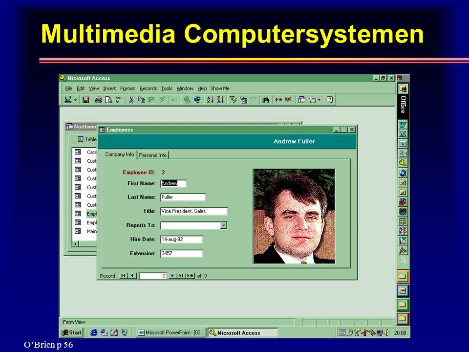 Multimedia Computersystemen O'Brien p 56