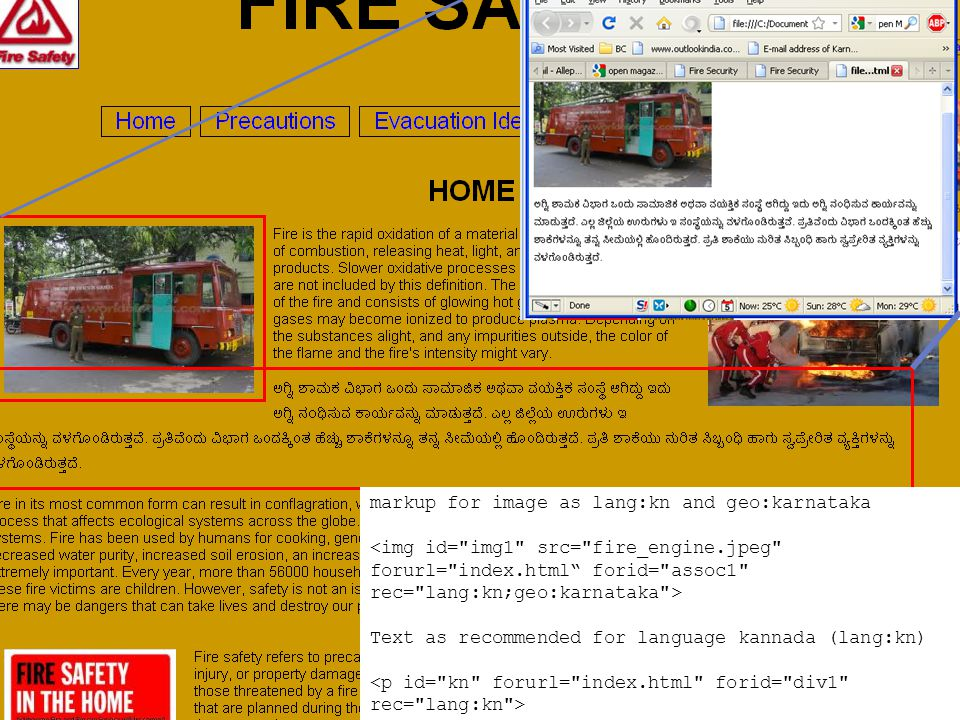 http://a11y.in Web Accessibility for Inclusion dinesh@servelots.com markup for image as lang:kn and geo:karnataka Text as recommended for language kannada (lang:kn)